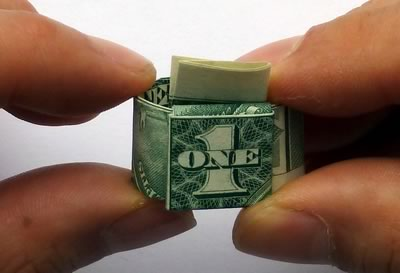how to make a dollar bill ring 20
