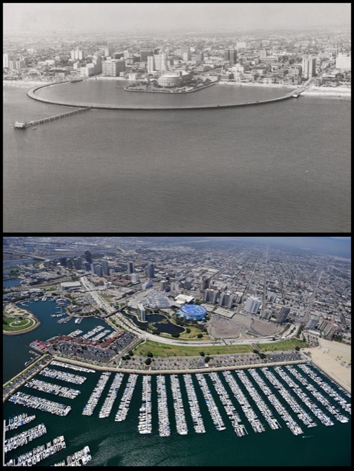 long beach before and after