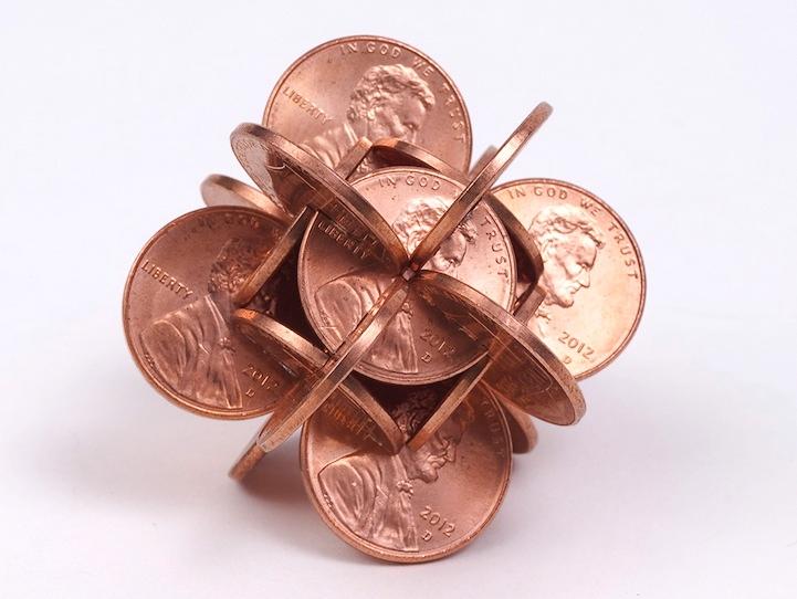 robert wechsler coin sculptures 3