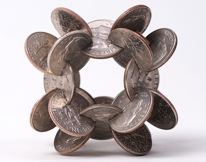 robert wechsler coin sculptures