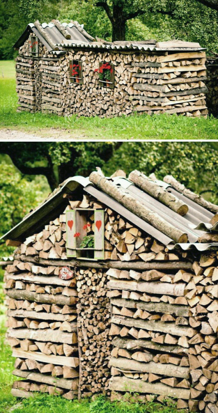 20 amazing wood pile art pictures that proves anything can be beautiful. Black Bedroom Furniture Sets. Home Design Ideas