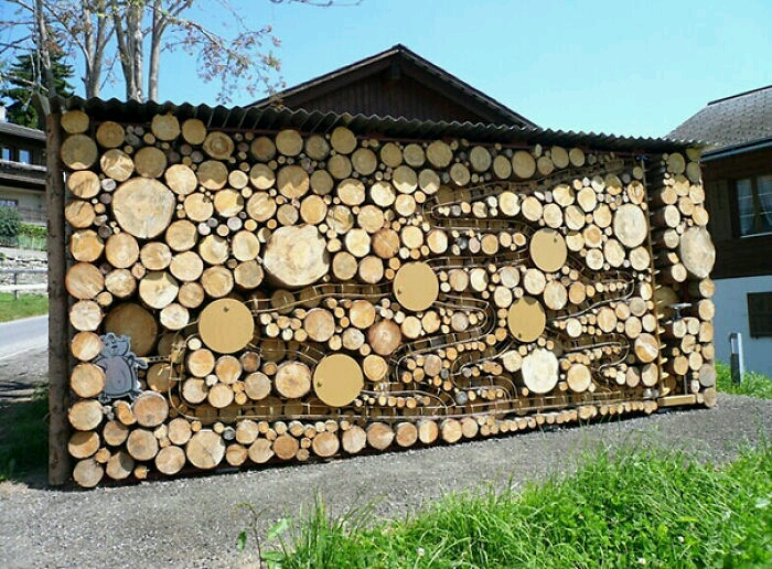 Furniture painting ideas techniques - 20 Amazing Wood Pile Art Pictures That Proves Anything Can