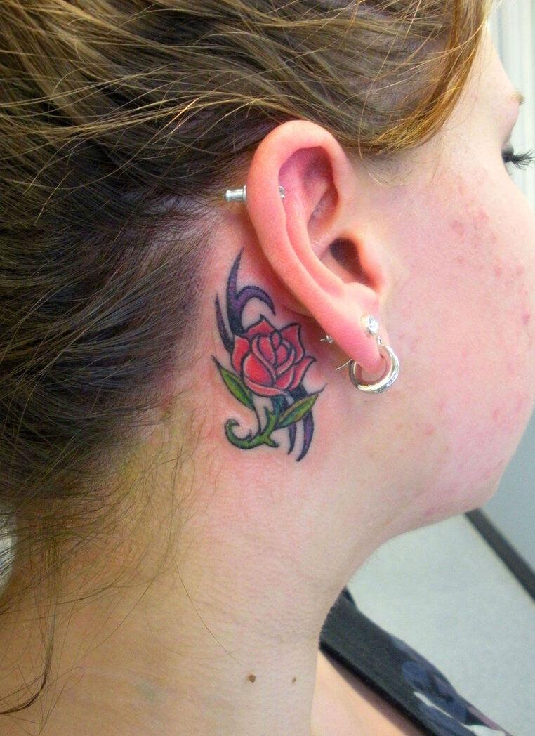 behind the ear tattoos (1)