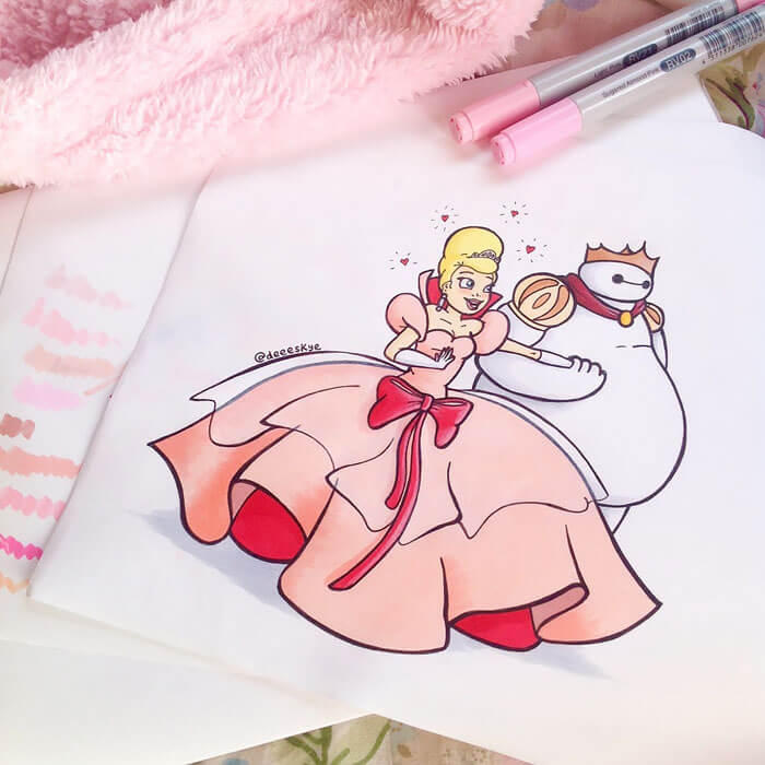 cute drawings of disney characters 21 (1)