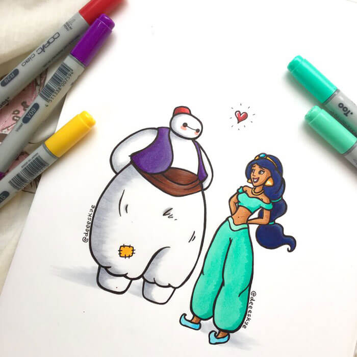 cute drawings of disney characters 22 (1)