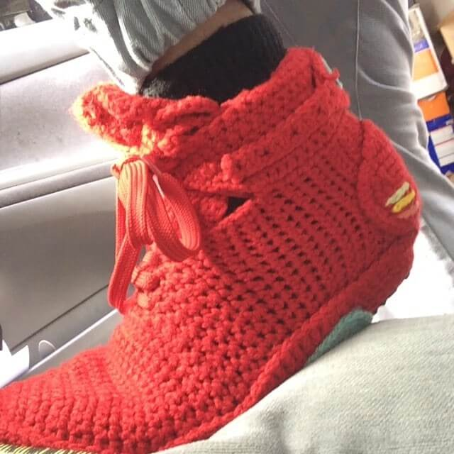 750b95b369b9 FUGGIT Crochet Sneakers Try To End Sneaker Violence While Looking ...
