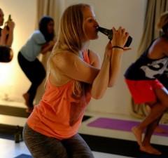 beer yoga feat