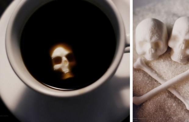 bone shaped sugar skulls feat