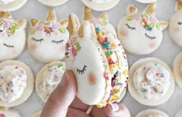 cute macarons feat