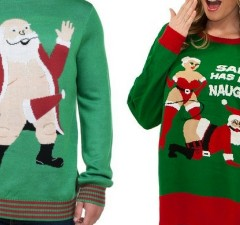 inappropriate christmas sweaters feat