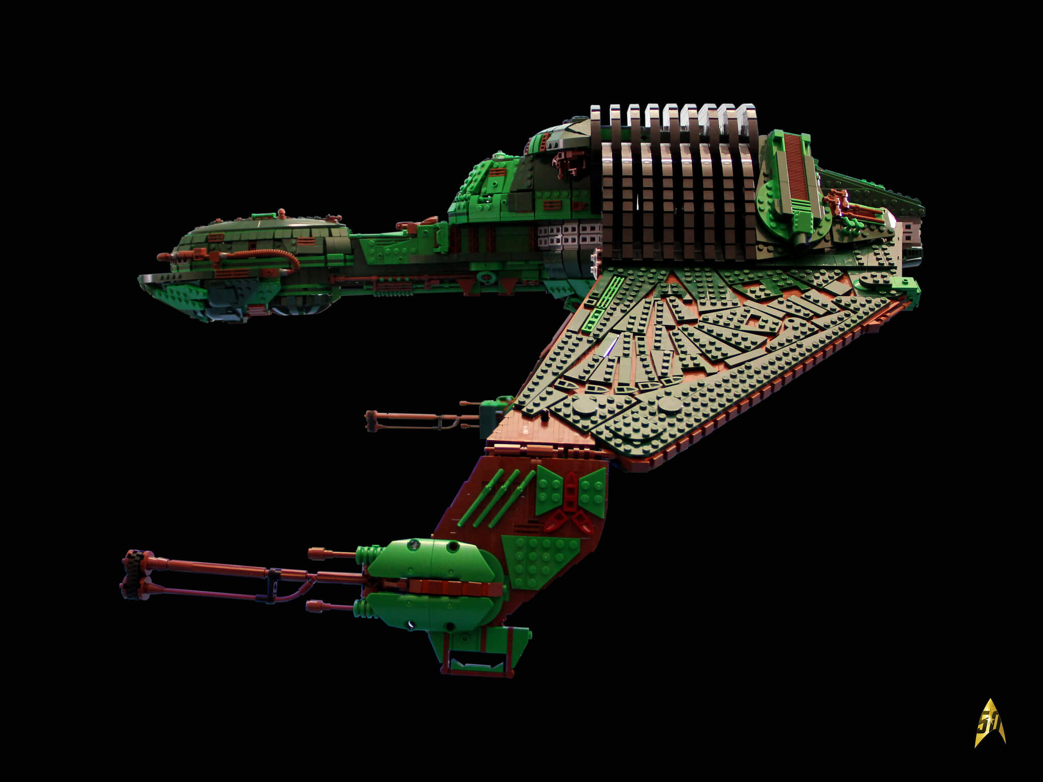 Lego Klingon Bird Of Prey Built From 25 000 Lego Bricks