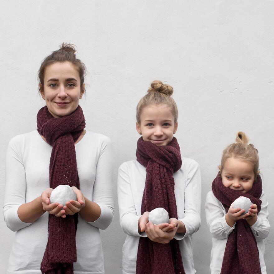 mother duaghter matching clothes photos 3 (1)