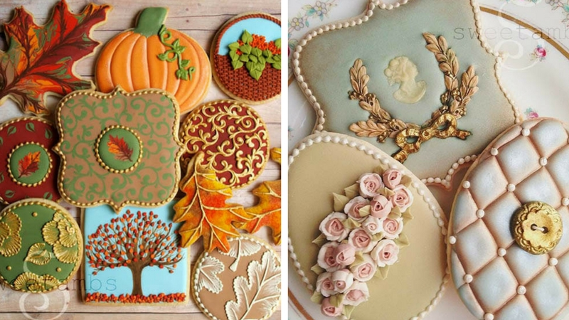 These amazing ornamental cookies created by amber spiegel for Spiegel you look amazing