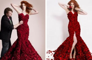 red rose dress feat