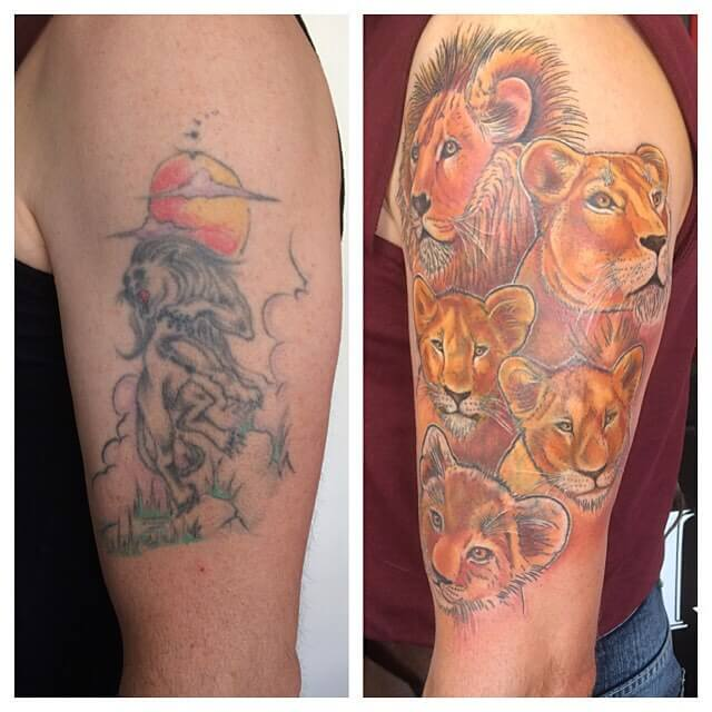 Tattoo Cover Up Quotes: 33 Tattoo Cover Ups Designs That Are Way Better Than The