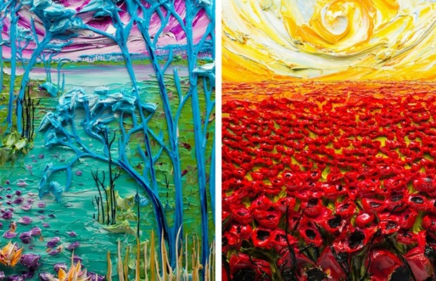 textured paintings feat