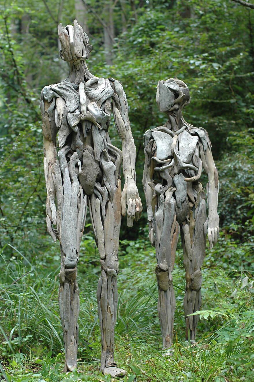 Nagato Iwasaki driftwood sculptures (1)