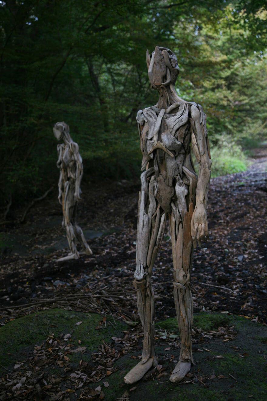 Nagato Iwasaki driftwood sculptures 10 (1)