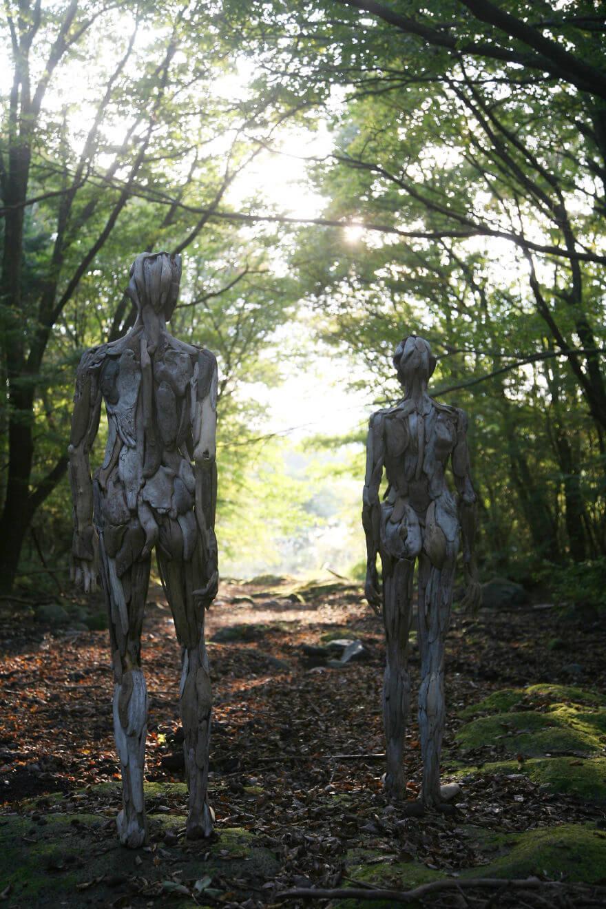 Nagato Iwasaki driftwood sculptures 3 (1)