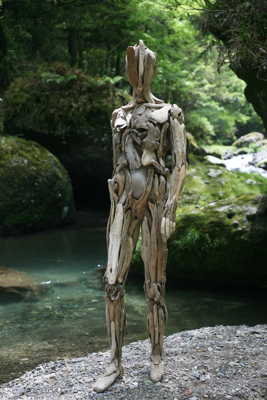 Nagato Iwasaki driftwood sculptures 4 (1)