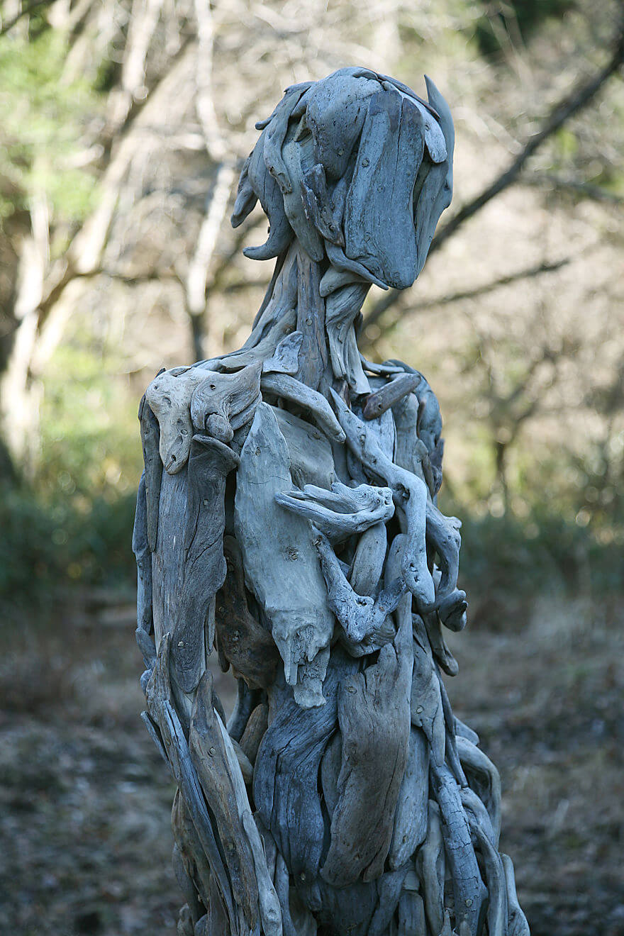 Nagato Iwasaki driftwood sculptures 7 (1)