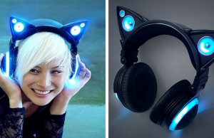 cat ear headphones feat