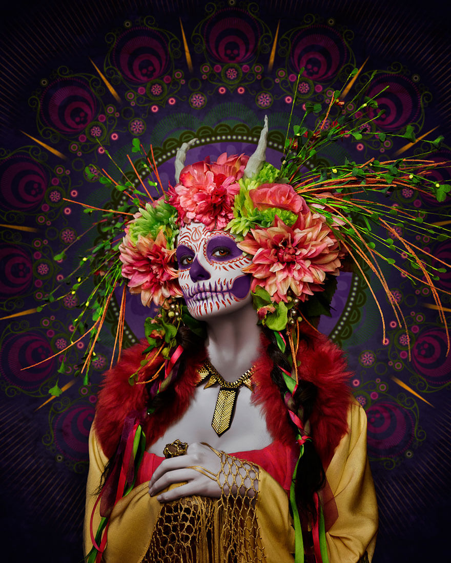 day of the dead makeup (1)