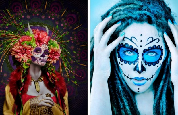 Beautiful Tribute Of Day Of The Dead Makeup Las Muertas - How-to-do-day-of-the-dead-makeup