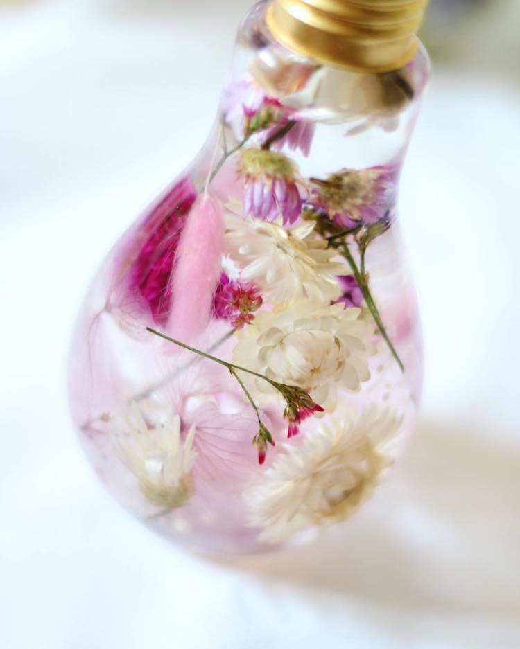 flowers suspended in light bulbs 14 (1)