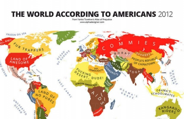 31 Funny Maps Of National Stereotypes And How People View The World