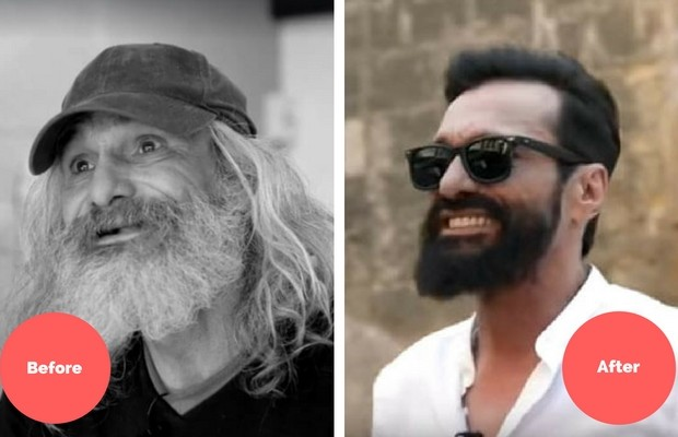 homeless man transformation feat