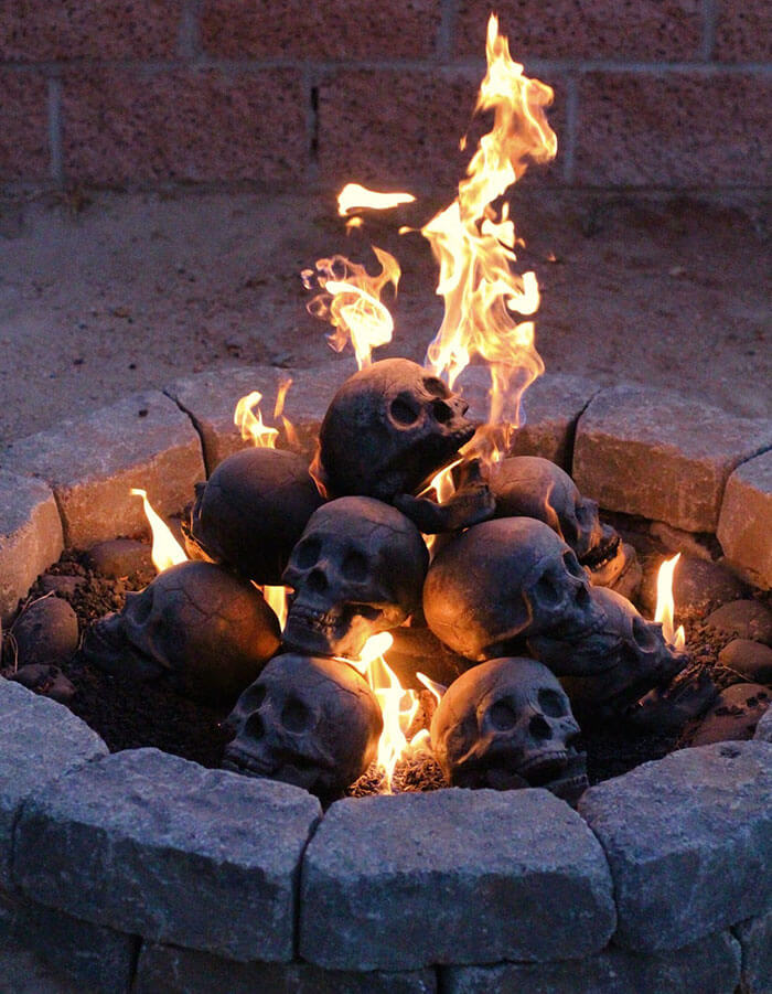 These Skull Fire Pit Logs Are The Perfect Accessory For