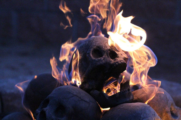 These Skull Fire Pit Logs Are The Perfect Accessory For Your ...