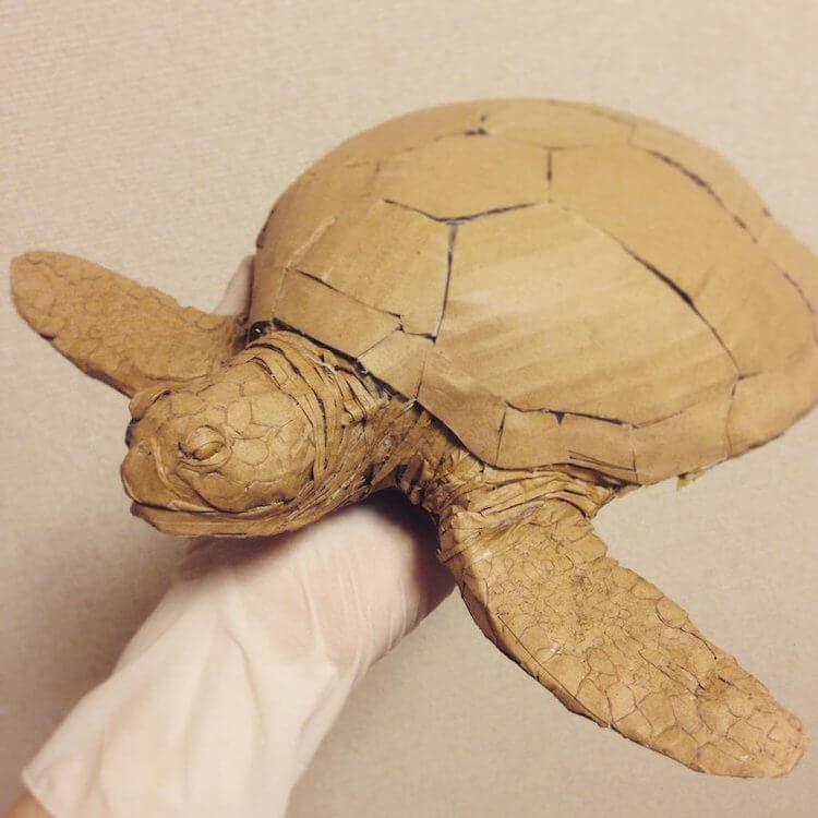 Monami Ohno cardboard boxes creations 14