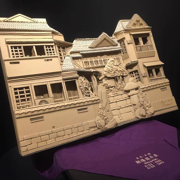 Monami Ohno cardboard boxes creations 15