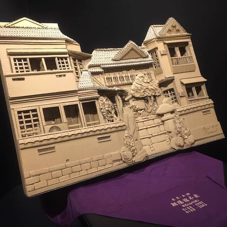 Monami Ohno cardboard boxes creations 15