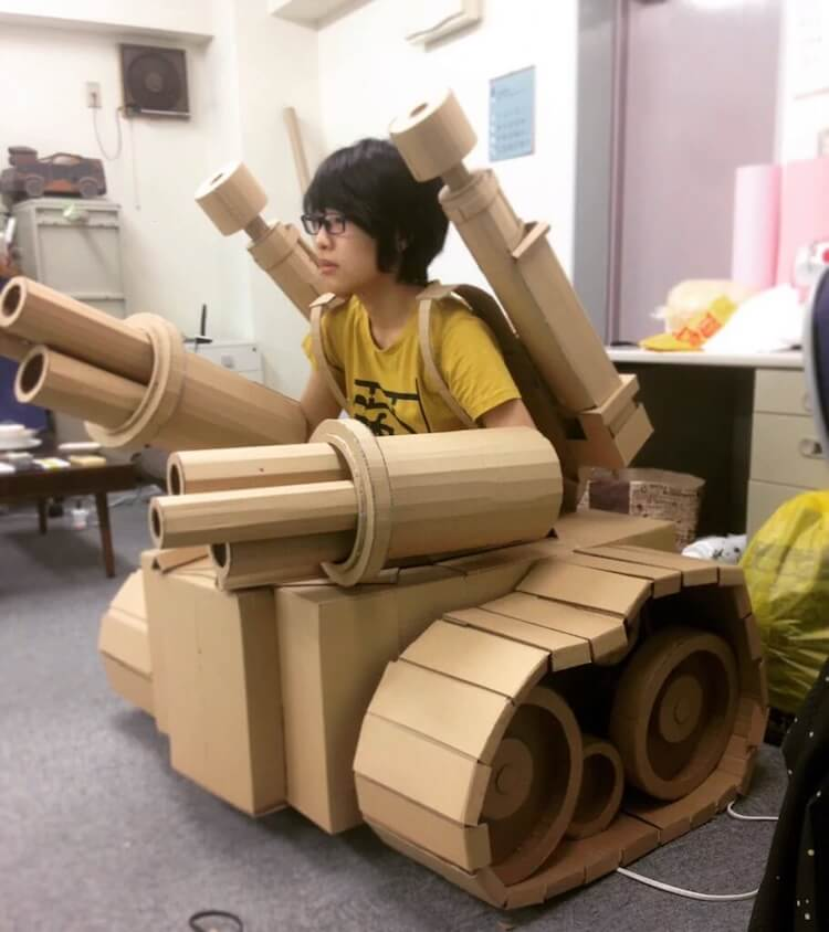 Monami Ohno cardboard boxes creations 8