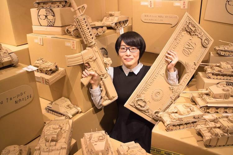 Monami Ohno cardboard boxes creations 9
