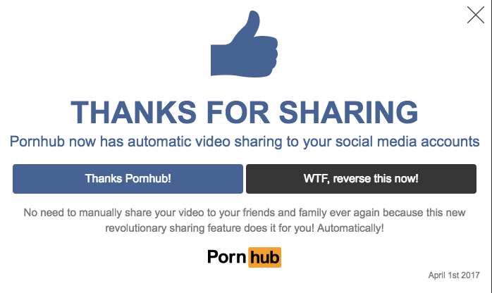 Pornhub April Fools' Day prank (1)