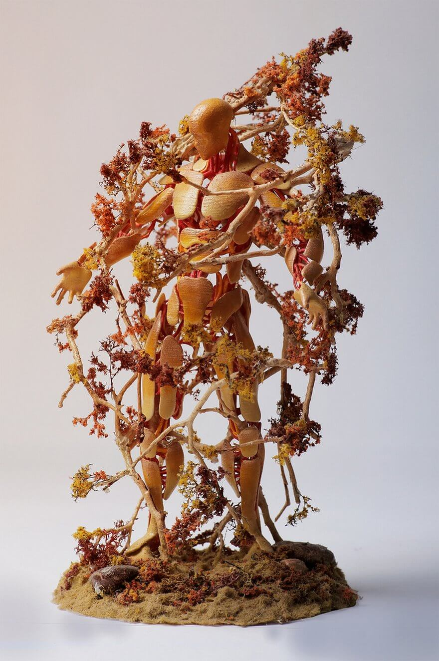 assemblage sculptures by garret kane show the connection