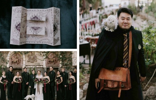 harry potter themed wedding feat