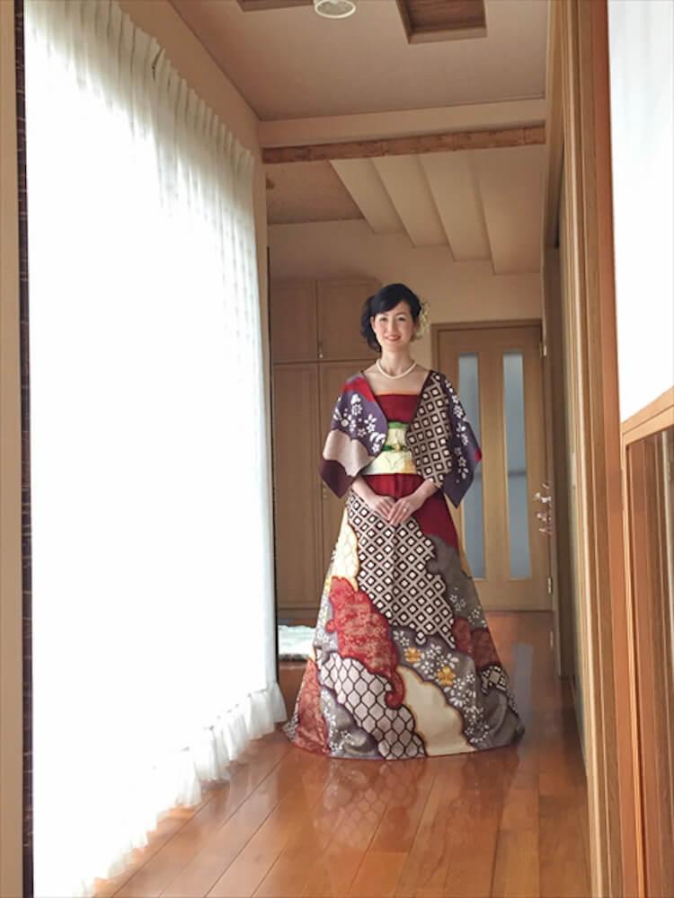 kimono short sleeve wedding dress 10 (1)