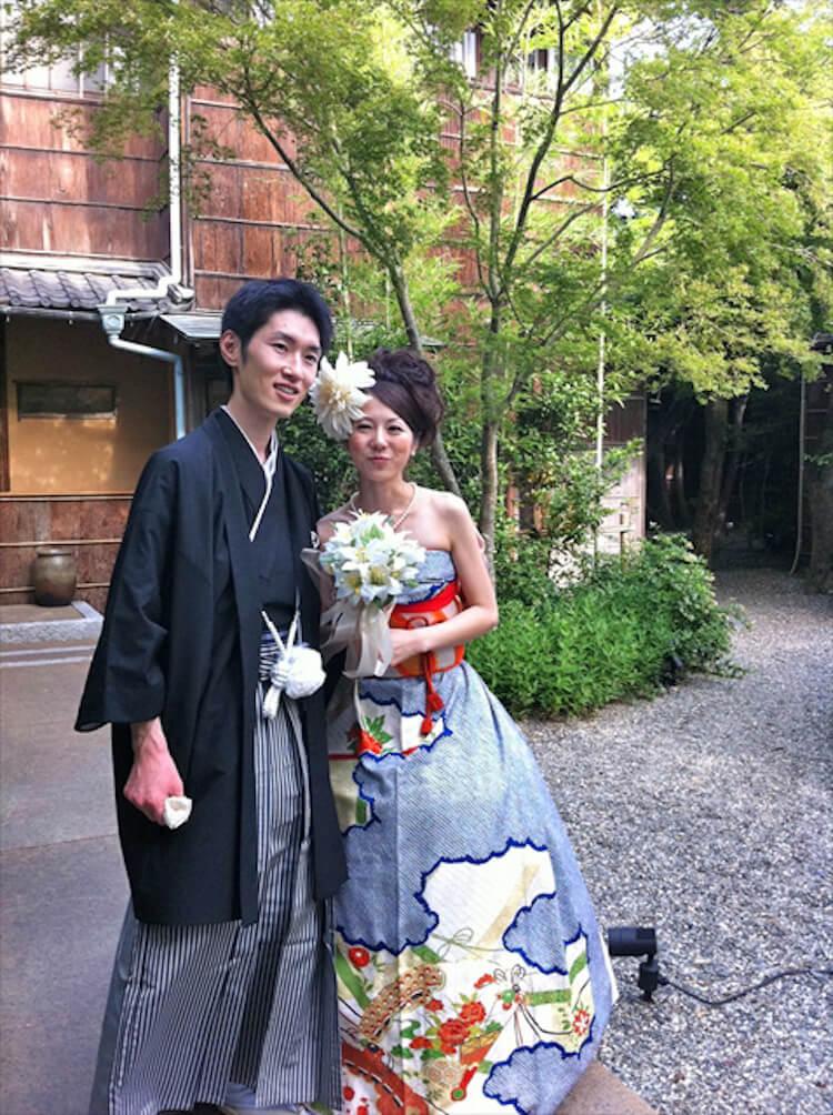 kimono short sleeve wedding dress 16 (1)