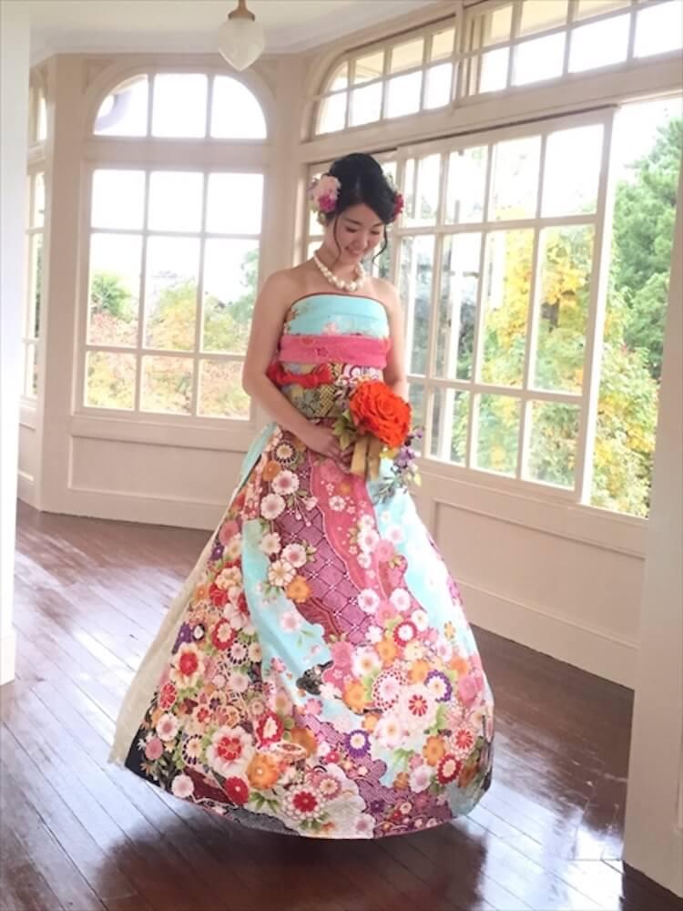 kimono short sleeve wedding dress 5 (1)
