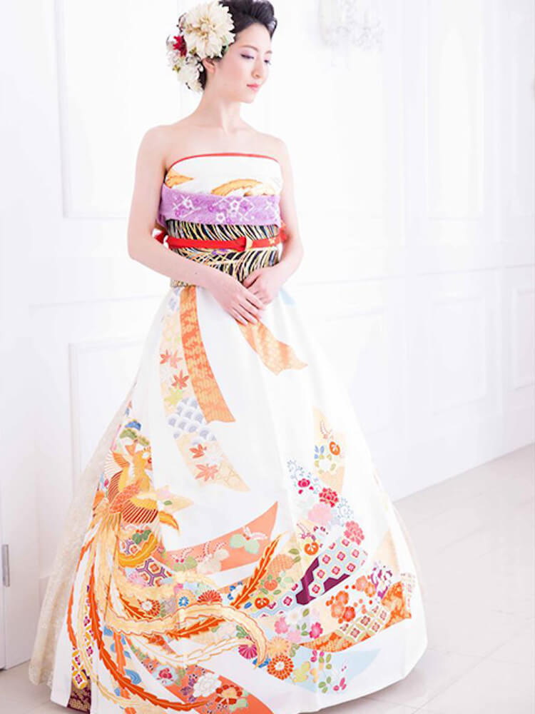 kimono short sleeve wedding dress 9 (1)