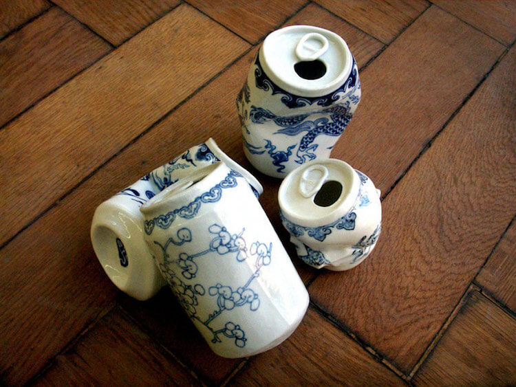lei xue smashed cans porcelain sculptures 2 (1)