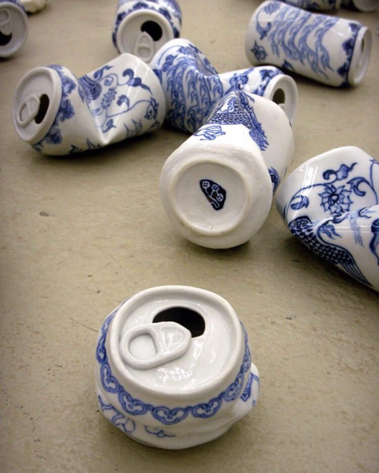 lei xue smashed cans porcelain sculptures 3 (1)