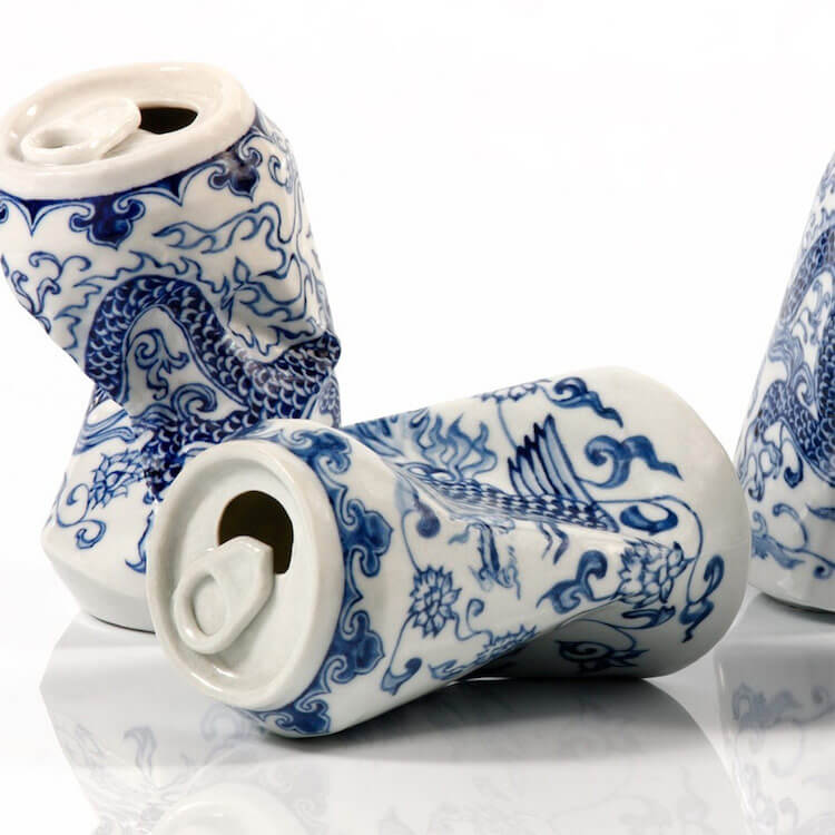 lei xue smashed cans porcelain sculptures 5 (1)
