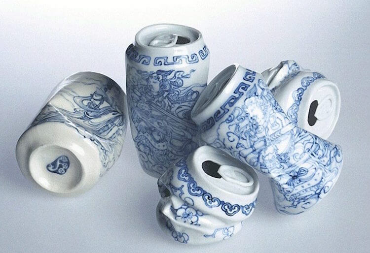 lei xue smashed cans porcelain sculptures 6 (1)