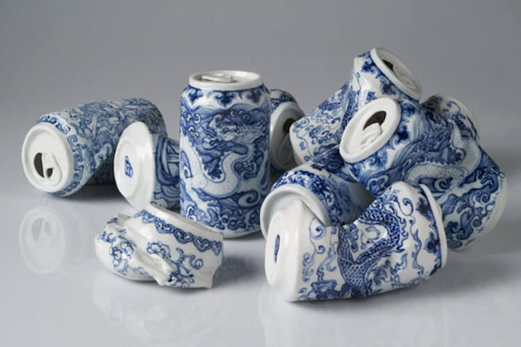 lei xue smashed cans porcelain sculptures 7 (1)